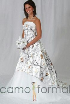Camo Wedding Dress #CamoWeddingIdeas