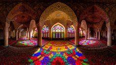 wonder of islamic architecture: geometry & light & timelessness & universal aesthetics: Nasir al-Mulk in Shiraz, Iran, built 1888