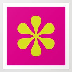 Vibrant magenta and lime green pop-art asterisk deisng is perfect for the graphic designer or typography lover. Magenta, Pop Art, Vibrant, Lime, Typography, Graphic Design, Art Prints, Green, Letterpress