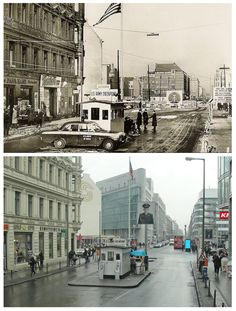 Checkpoint Charlie, then and now.