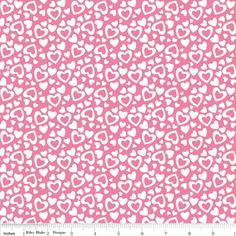 Riley Blake Designs - Holiday Banners - Hearts in Pink