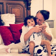 Chris Brown's daughter Royalty & his Mother