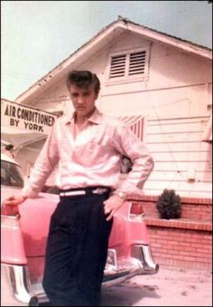 9-5 in 1957: Elvis Presley, flush from his new fame, gives his mother, Gladys, his pink 1955 Cadillac Fleetwood.