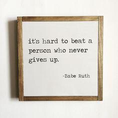 Sport quote, sports decor, Babe Ruth quote, kids decor, baseball decor, motivational quote