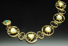 Yumi Ueno Art Jewelry Jewelry  Bracelet ~ Australian boulder opal, Moonstone,  22, 18, 14KG