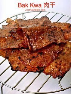 Bak Kua (Bak Kwa, Long Yok, Malaysian Pork Jerky, 猪肉干)  - Note: Alternate Recipe http://honeybeesweets88.blogspot.ca/2013/02/bak-kwa.html