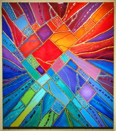 Mosaic ~Brian Miller ~ no link to this exact piece, but it& a good inspiration piece anyhow! Mosaic Art, Mosaic Glass, Mosaic Tiles, Mosaics, Posca Art, Mosaic Madness, Mosaic Projects, Mosaic Designs, Rainbow Colors