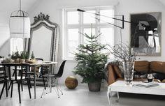 decoración salones comedores navidad espejo cuerpo entero decoración no navideña decoración verde y tonos naturales decoración navidad invierno navidad nórdica blog decoración nórdica estilo nórdico escandinavo