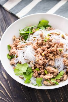 The most versatile Vietnamese Pork Mince recipe is here! Full of Asian flavours we love, serve it in a homey rice bowl, delicious noodle salad or refreshing lettuce cup! #vietnamesepork #porkmincerecipes #vietnameseporkmince #noodlesalad Mince Recipes, Pork Recipes, Pasta Recipes, Cooking Recipes, Noddle Recipes, Asian Noodle Recipes, Healthy Asian Recipes, Vietnamese Pork
