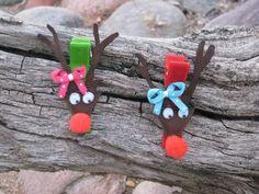 Reindeer Hair Clip  Ribbon Sculpture  Reindeer by OhSoPrettyByAsia, $4.75