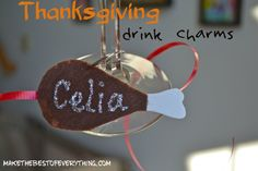 Thanksgiving Drink Charms - A quick and easy felt craft to make before Thanksgiving.