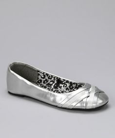 Take a look at this Silver Katy Ballet Flat by Simply Petals on #zulily today!