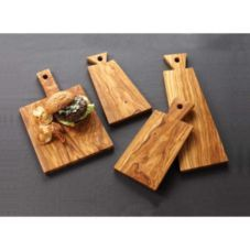 American Metalcraft OWB149 Decorative Tray Wooden Handle OWB149   Wooden Trays - Wasserstrom Restaurant Supply