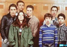 The Cast of Freaks & Geeks: The Freaks - James Franco, Jason Segel, Linda Cardellini, Seth Rogen; The Geeks - John Francis Daley, Martin Starr, Samm Levine. #FreaksAndGeeks