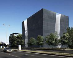 куб здания бизнес центра в Загребе