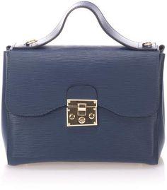 44c2df74b87b Giulia Massari Bycast Leather Tote in Blue!  totebag  bags  handbags  bolsos
