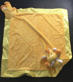 very soft yellow plush giraffe. with satin trim. Snuggle Blanket, Lovey Blanket, Cuddle, Baby Bedtime, Baby Security Blanket, Little Giraffe, Baby Lovey, Plush Animals, Satin