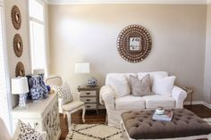 Benjamin Moore Clay Beige - TiffanyD: A fresh coat of paint in my office/sitting room...