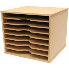 "Beyond The Page MDF Scrapbooking Paper Storage Unit, 11"" x 13.25"" x 12.25"""