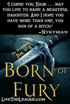 Born of Fury (The League, Sherrilyn Kenyon--love her books Dark Hunter, Good Books, Books To Read, My Books, Sherrilyn Kenyon Books, Chronicles Of Nick, Romance Novels, Paranormal Romance, Reading Lists