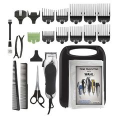 Wahl Soft Touch Chrome Pro Men's Haircut Kit with Adjustable Tapper Lever & Hard Storage case - 79524-2501