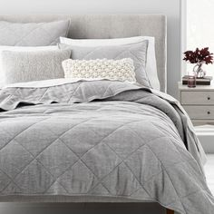 Made in Portugal of organic cotton fibers, our Flannel Herringbone Shams are a modern classic. These loom-woven and quilted shams is a menswear-inspired piece that makes for a neutral, lightweight layer to your bed all year round (hint: it on… Bedding Shop, Cal King Bedding, Marble Duvet Cover, Cotton Clouds, Cotton Pillow, Modern Classic, Bed Spreads, Herringbone, Yurts