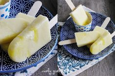 Pineapple Coconut Popsicles oooh yeah, with a little bit of rum. Pina Colada popsicle!