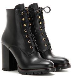 mytheresa.com - Leather ankle boots - Luxury Fashion for Women / Designer…