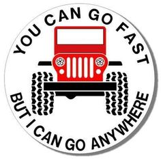"""Jeep Lover  tee shirt  Custom Printed  """"Go Faster""""  -  Your Words or Ours! Gray or White - PLUS sizes Available  by jeeplady2012, $15.99"""