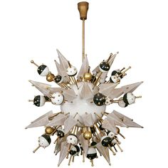 "Rare ""Spoutnik"" Chandelier 