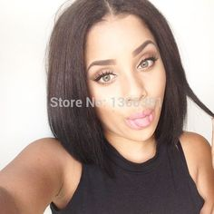 Find More Wigs Information about Cheap Middle Part Virgin Unprocessed Human Hair Black 4''*4'' Silk Base Full Lace Wigs For Black Women All Length In Stock,High Quality Wigs from Gorgeous Summer Hair Store on Aliexpress.com