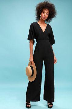 #mothersday #AdoreWe #Lulus - #Lulus Chic La Vie Black Wide-Leg Jumpsuit - Lulus - AdoreWe.com