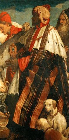 """Paolo Veronese - detail from """"Adoration of the Magi"""" -   Italy (1571)  Oil on Canvas"""