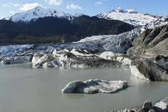 In this photo provided by James Balog/Extreme Ice Survey, the Mendenhall glacier outside of Juneau, Alaska in 2007. Over the past decade or so scientists and photographers keep returning to the world's glaciers, watching them shrink with each visit. Now they want other people to see what haunts them in a series of before and after photos.  (James Balog/Extreme Ice Survey via AP)