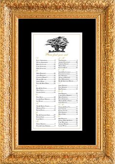 where to sit seating chart table assignment for your wedding or special event large 24 x 36 holds 150 linesapproximately 300 people 150 wedding