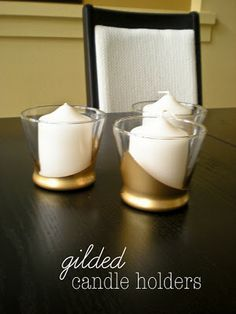DIY: gilded candle holders
