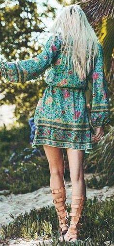 #spellandthegypsycollective #boho #outfits |  Folk Printed Maxi Boho Dress