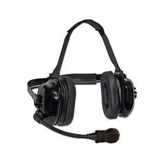 Dual Muff NR Headset for Kenwood TK & NX Series w/ PTT