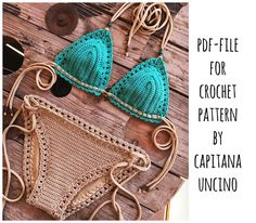 PDF-file for Crochet PATTERN Serafina Crochet Bikini Top and