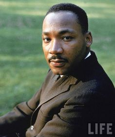 Martin Luther King Jr.  1929 - 1968.  Clergyman, activist, and leader in the African-American Civil Rights Movement