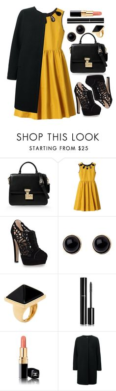 """""""Untitled #4314"""" by natalyasidunova ❤ liked on Polyvore featuring Dolce&Gabbana, Kate Spade, Valentino, Adele Marie, Kenneth Jay Lane, Chanel and Jil Sander Navy"""
