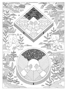 It's Nice That : Intricately illustrated otherworlds created by José Ja Ja Ja