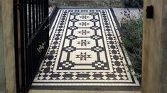 London+Mosaic+-+Classical+Georgian+Black+and+White+Tile+Design