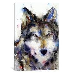 iCanvas Wolf II by Dean Crouser Canvas Print | Overstock.com Shopping - The Best Deals on Gallery Wrapped Canvas