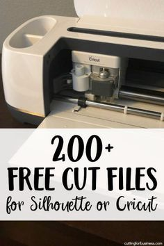 200+ Free Commercial Use Cut Files for Silhouette Portrait or Cameo and Cricut Explore or Maker - by cuttingforbusiness.com