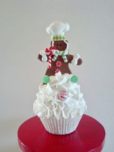 Gingerbread Boy Fake Cupcake Christmas by FakeCupcakeCreations