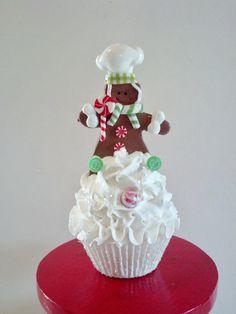 Gingerbread Boy Fake Cupcake Christmas by FakeCupcakeCreations, $15.00