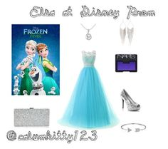 """""""Elsa!!!"""" by calumkitty123 on Polyvore featuring NARS Cosmetics, Disney, Milly, Jules Smith and Bling Jewelry"""