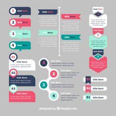 elementi infographic con colori d. Free Infographic Templates, Infographic Powerpoint, Powerpoint Design Templates, Timeline Infographic, Ppt Design, Layout Design, Design Elements, Chart Infographic, Maquette Site Web