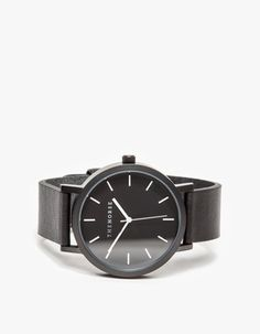 Matte Black Band Watch #watches #womens